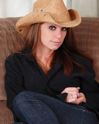 A Cowboy Hat A Guitar And A Sexy Lookin Devon Shes Such A Cutie - Picture 1