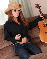 A Cowboy Hat A Guitar And A Sexy Lookin Devon Shes Such A Cutie - Picture 6